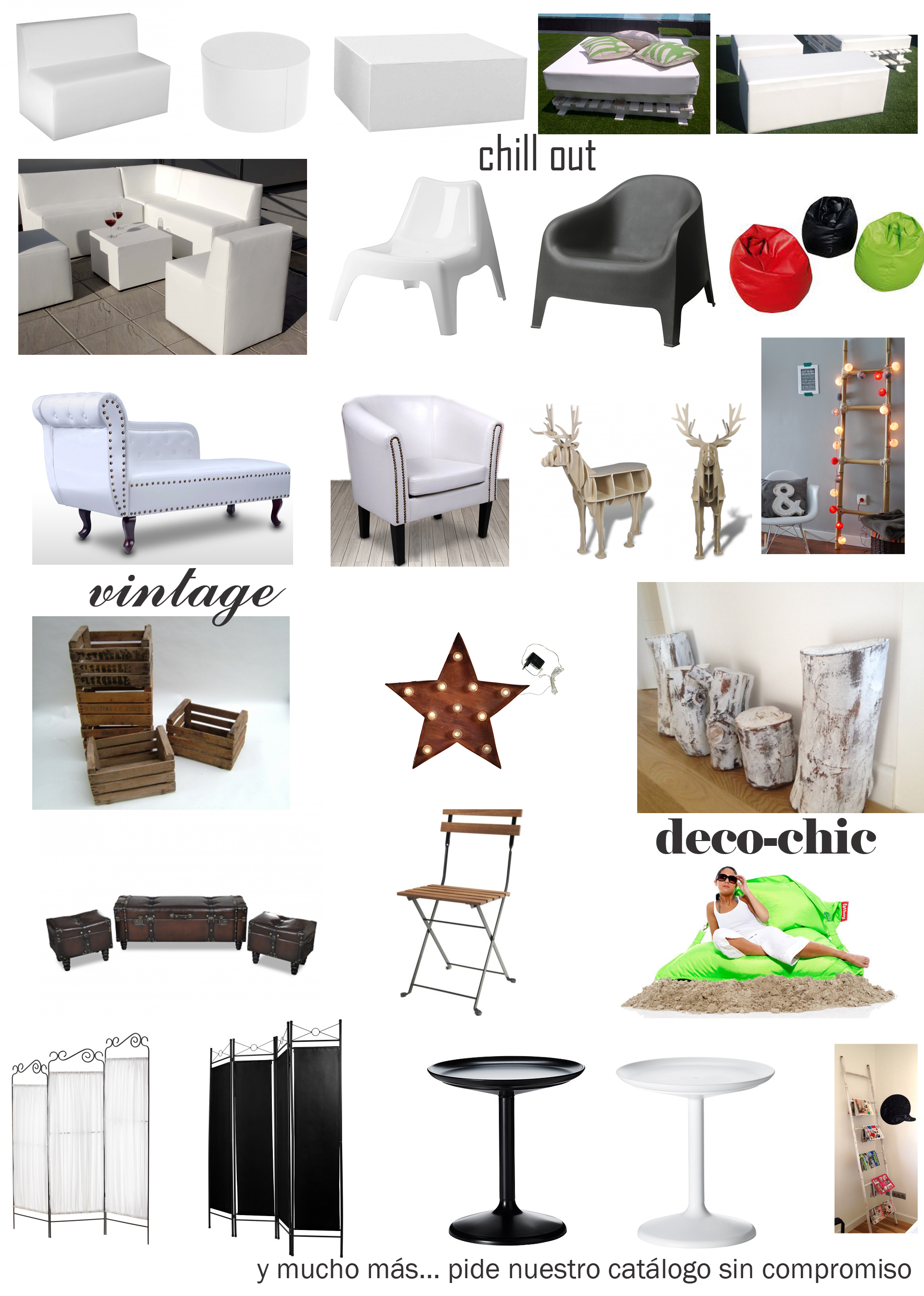 Mobiliario Chill Out | Alquiler Muebles Eventos