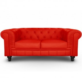 sofas chesterfield en rojo
