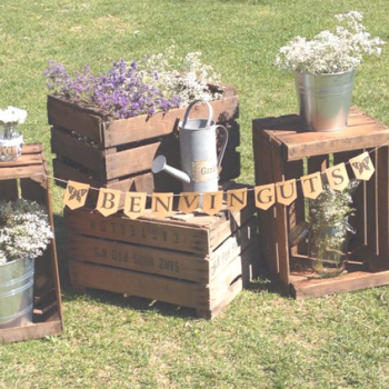 decoracion con cajas de madera