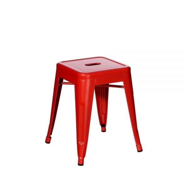 Taburete loft B. rojo